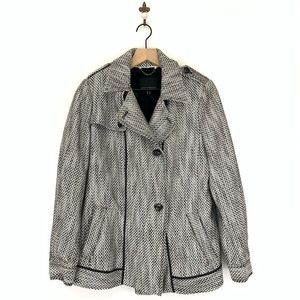 Banana Republic Tweed Short Trench Coat Medium
